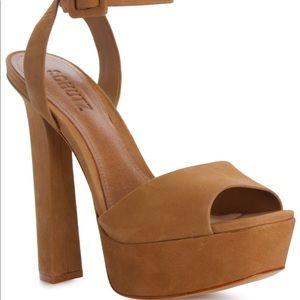 New 💛 Platform heels black suede schutz